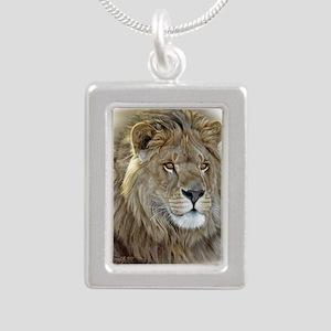 lion-portrait-t-shirt Silver Portrait Necklace