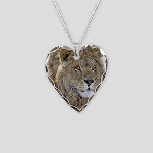 lion-portrait-t-shirt Necklace Heart Charm