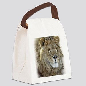 lion-portrait-t-shirt Canvas Lunch Bag