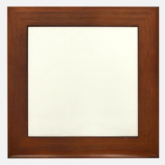 white on dark final Framed Tile