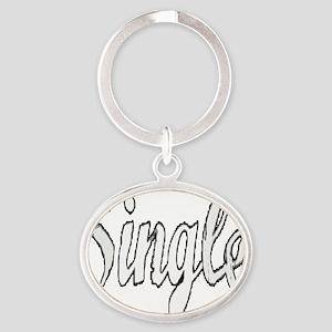 Single12x12 Oval Keychain