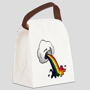 RainbowPukeSmall Canvas Lunch Bag