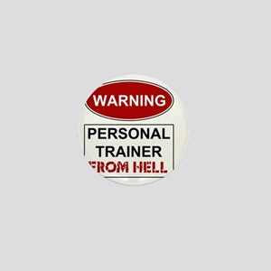 WARNING PERSONAL TRAINER Mini Button