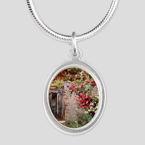 Near_Taormina_Italy_1918_iPad Silver Oval Necklace