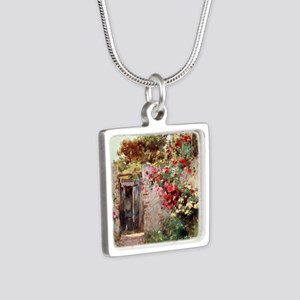 Near_Taormina_Italy_1918_i Silver Square Necklace
