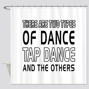 Tap danceDance Designs Shower Curtain