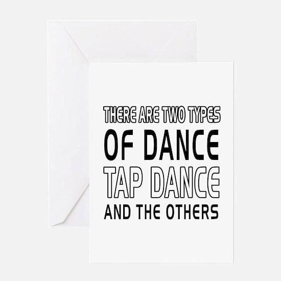 Tap danceDance Designs Greeting Card