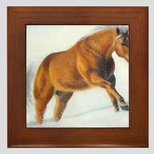 Palomino Snow climb Framed Tile