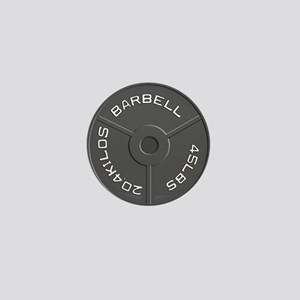 Clock Barbell45lb Mini Button