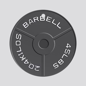 Clock Barbell45lb Round Ornament