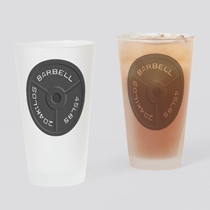 Clock Barbell45lb Drinking Glass