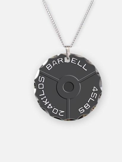 Clock Barbell45lb Necklace