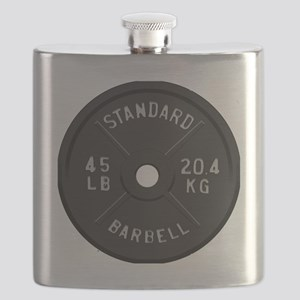 clock barbell45lb2 Flask