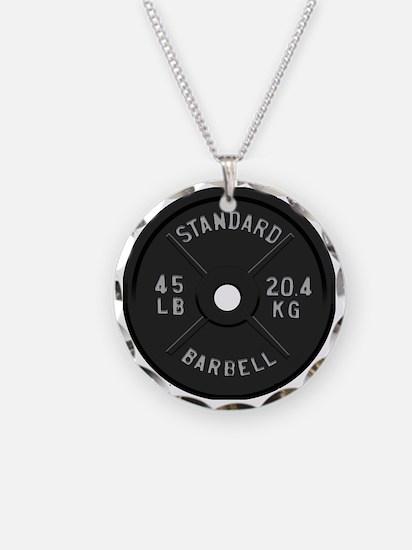 clock barbell45lb2 Necklace