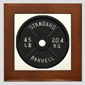 clock barbell45lb2 Framed Tile
