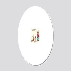 Vintage Easter Card 20x12 Oval Wall Decal