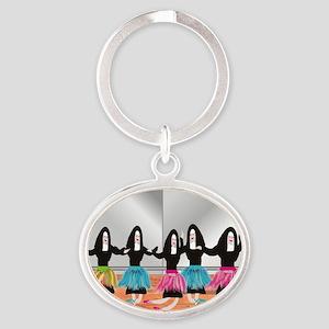 Nun Ballerinas 5 Oval Keychain