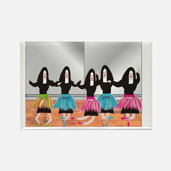 Nun Ballerinas 5 Rectangle Magnet