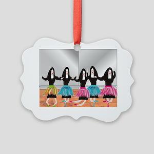 Nun Ballerinas 5 Picture Ornament