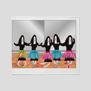 Nun Ballerinas 5 Throw Blanket