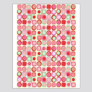 Pink Retro Geometric Small Poster
