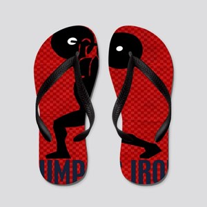 pumping_iron_12by14_red Flip Flops