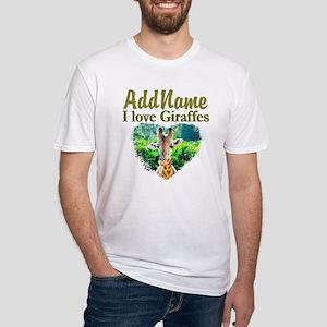 LOVE GIRAFFES Fitted T-Shirt