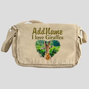 LOVE GIRAFFES Messenger Bag