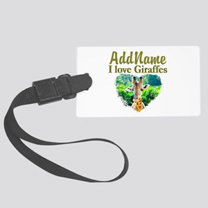 LOVE GIRAFFES Large Luggage Tag