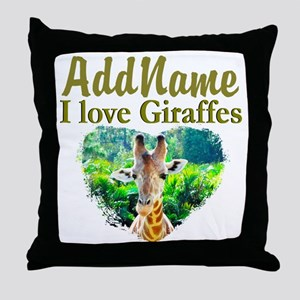 LOVE GIRAFFES Throw Pillow