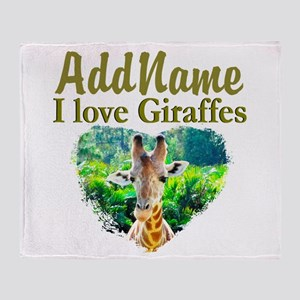 LOVE GIRAFFES Throw Blanket