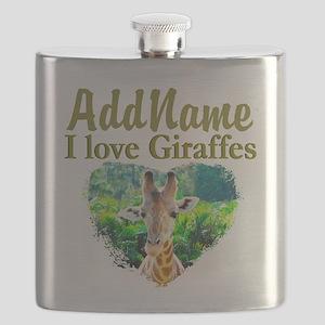 LOVE GIRAFFES Flask