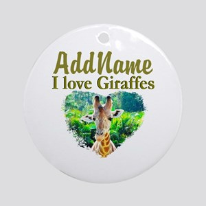 LOVE GIRAFFES Ornament (Round)