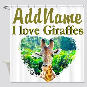 LOVE GIRAFFES Shower Curtain