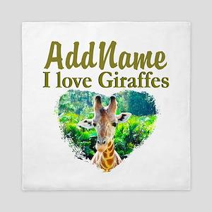 LOVE GIRAFFES Queen Duvet