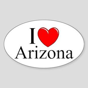 """""""I Love Arizona"""" Oval Sticker"""