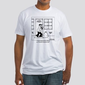 3488_crime_cartoon Fitted T-Shirt