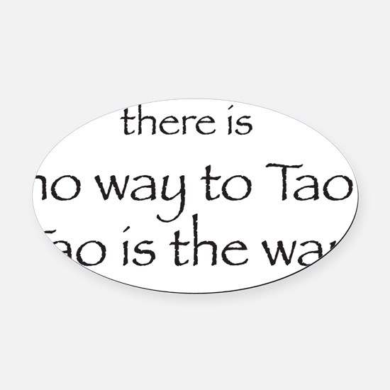way Oval Car Magnet