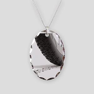 Heart_tire+iPad Necklace Oval Charm