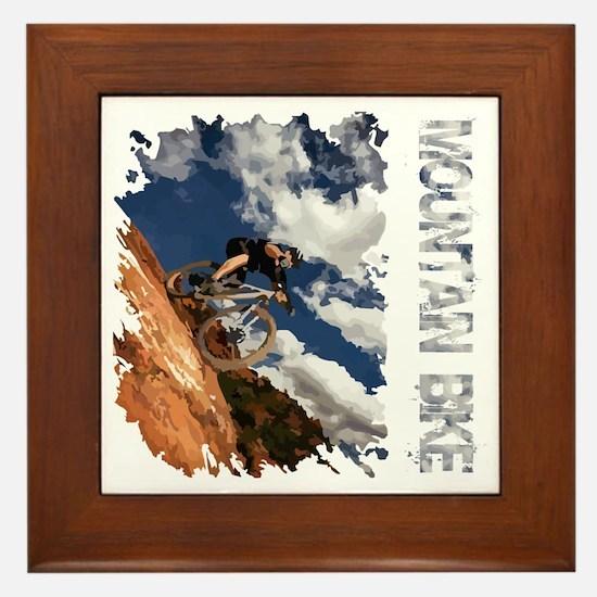 Mountain_Bike_Hill_whr Framed Tile