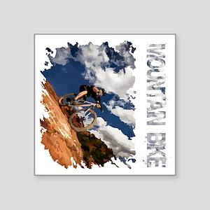 """Mountain_Bike_Hill_whr Square Sticker 3"""" x 3"""""""