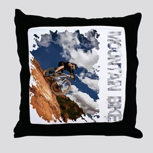 Mountain_Bike_Hill_whr Throw Pillow