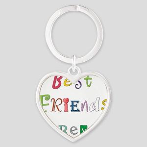 BestFriendsForever02 Heart Keychain