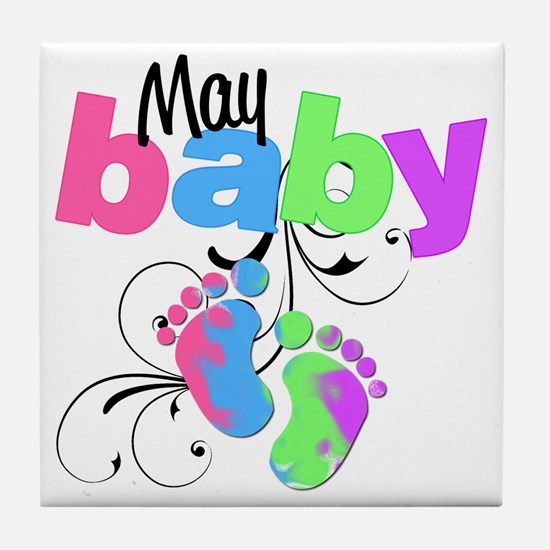 may baby Tile Coaster