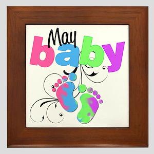 may baby Framed Tile