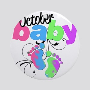 oct baby Round Ornament