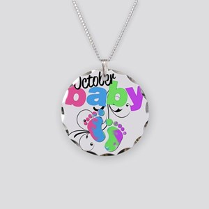 oct baby Necklace Circle Charm