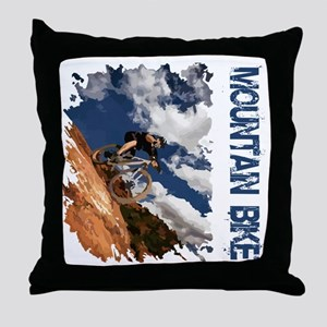 Mountain_Bike_Hill Throw Pillow