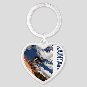 Mountain_Bike_Hill Heart Keychain