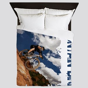 Mountain_Bike_Hill Queen Duvet